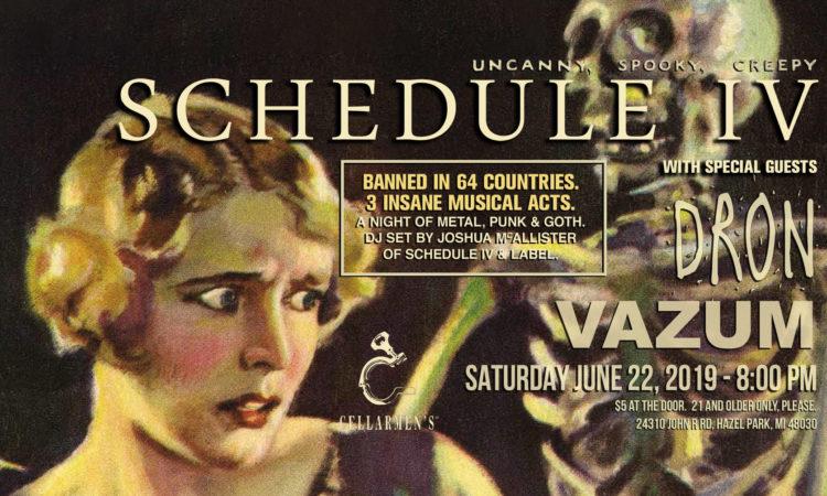 Schedule IV, Dron, VAZUM show banner